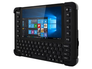 M101BK Rugged IP65 Tablet with keyboard