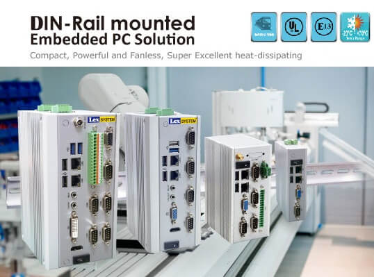 DIN-Rail mounted Embedded PC