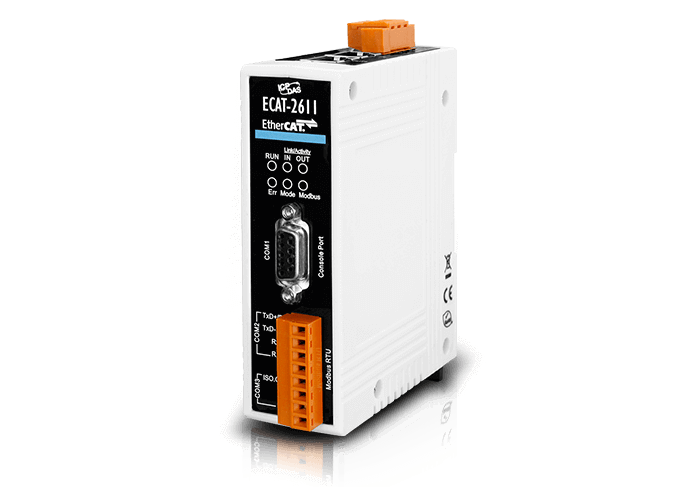 Join EtherCAT and Modbus RTU networks over ECAT-2611 gateway